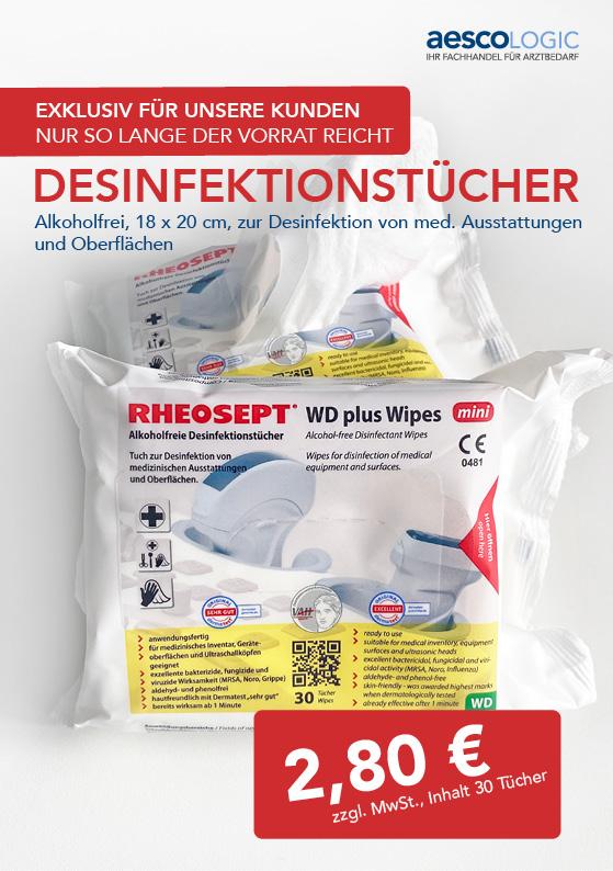 Angebotsflyer Desinfektionstücher